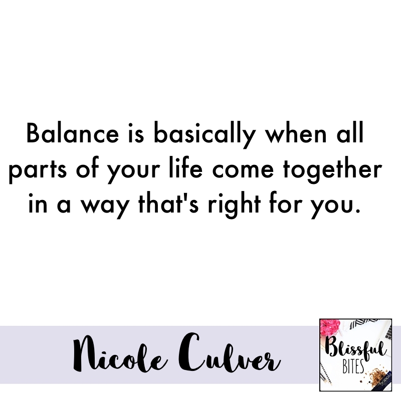 believe in balance