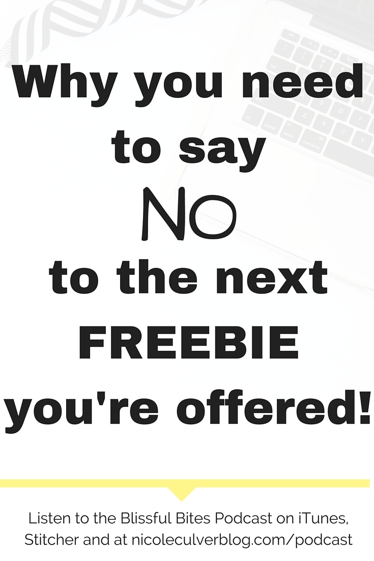 Freebie Collector: Say No!