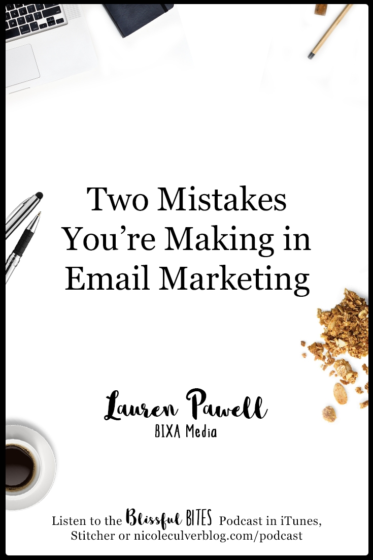Two Mistakes You're making in email marketing