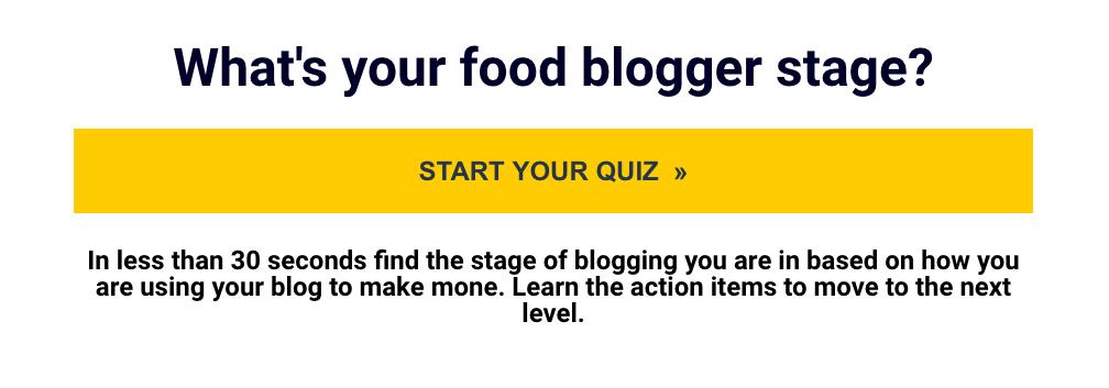 Food Blogger Quiz