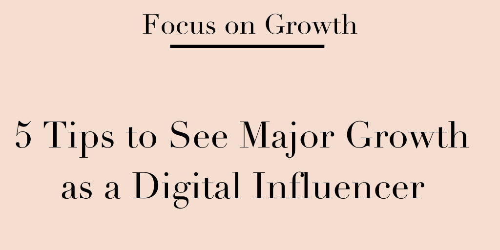 grow your blog as an influencer